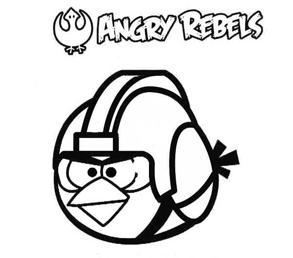 Angry Birds, : Angry Rebels in Angry Bird Space Coloring Page