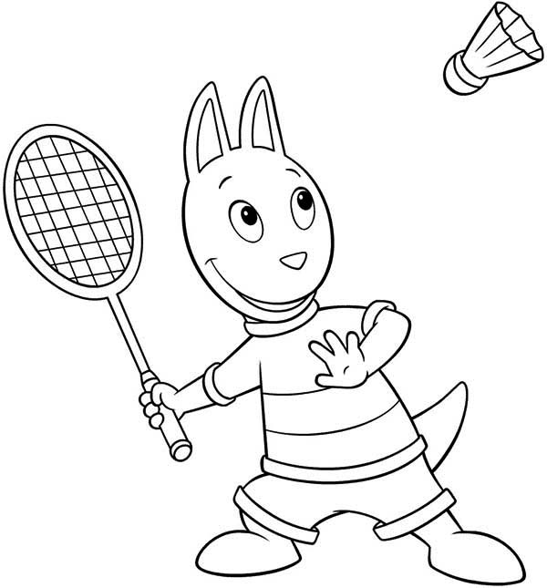 The Backyardigans, : Austin Doing Sport in the Backyardigans Coloring Page