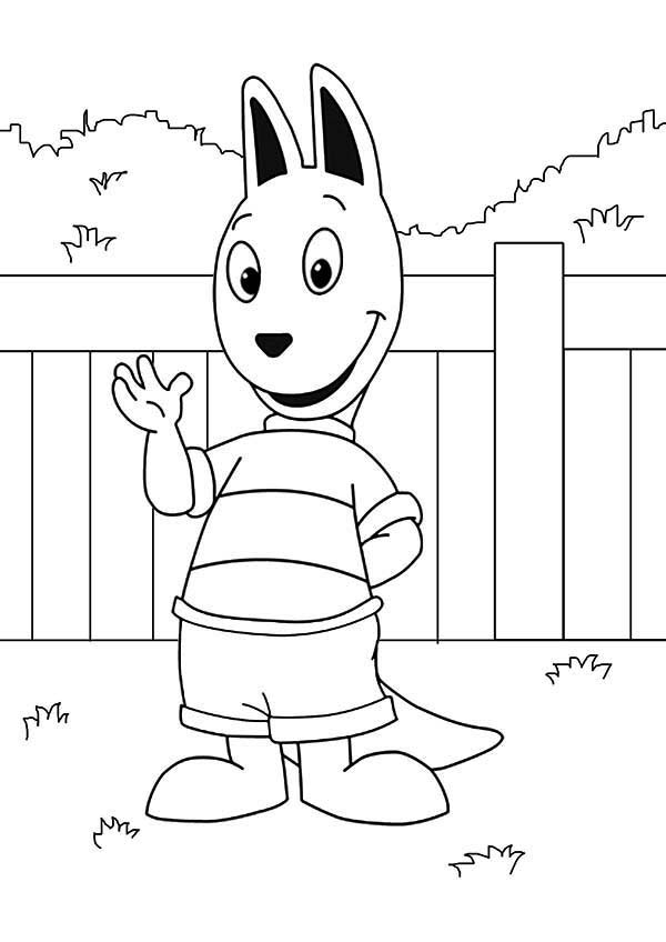 The Backyardigans, : Austin Greeting Us in the Backyardigans Coloring Page