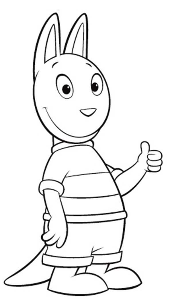 The Backyardigans, : Austin say Its Ok in the Backyardigans Coloring Page