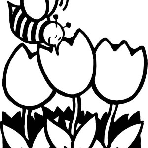 Everybody Is Happy When Spring Is Here Coloring Page ...