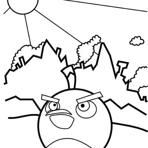 Blue Bird In Angry Bird Space Coloring Page : Kids Play Color