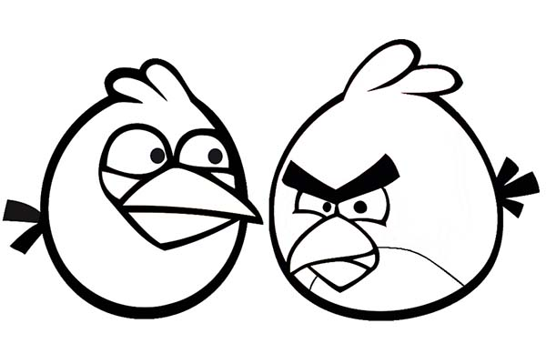 Angry Birds, : How to Draw Angry Bird Coloring Page
