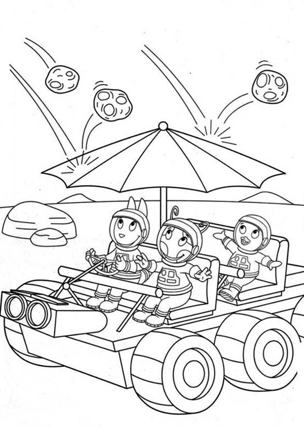 The Backyardigans, : Pablo and Friends Put on an Umbrella in the Backyardigans Coloring Page