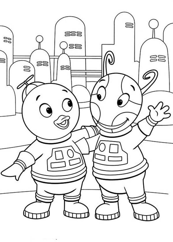 The Backyardigans, : Pablo and Uniqua is an Astronout in the Backyardigans Coloring Page