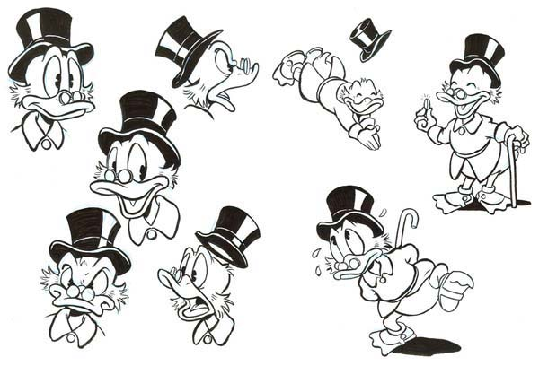 Scrooge Mcduck, : Picture of Uncle Scrooge Mcduck Coloring Page