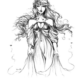 Awesome Drawing Of Aphrodite Coloring Page Kids Play Color
