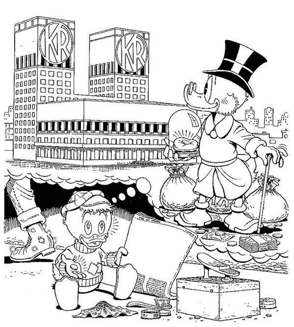 Scrooge Mcduck, : Scrooge Mcduck Coloring Page