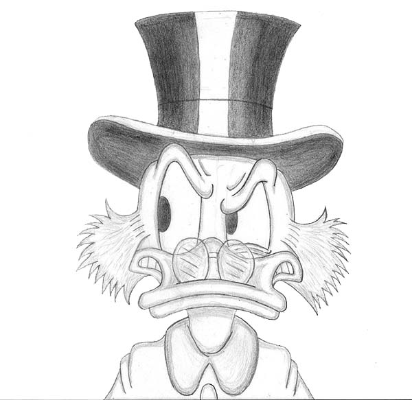 Scrooge Mcduck, : Scrooge Mcduck is a Little Mad Coloring Page