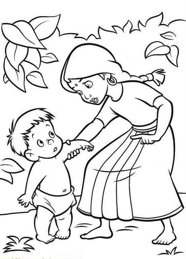 The Jungle Book, : Shanti and Ranjan from the Jungle Book Coloring Page