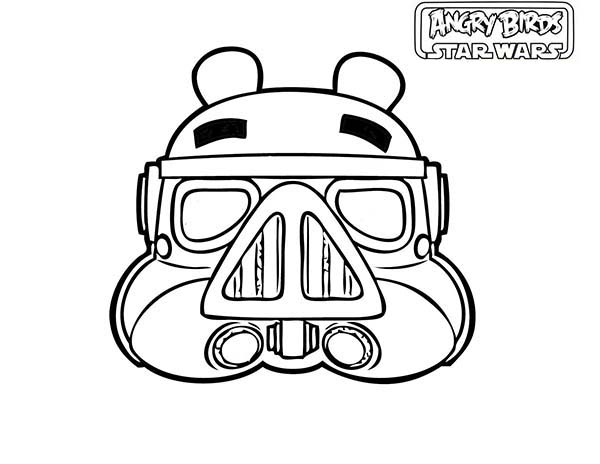 Angry Birds, : Storm Troopers in Angry Bird Space Coloring Page
