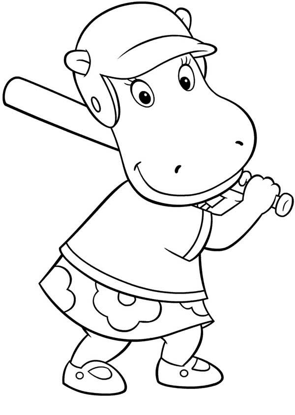 The Backyardigans, : Tasha Play Baseball in the Backyardigans Coloring Page