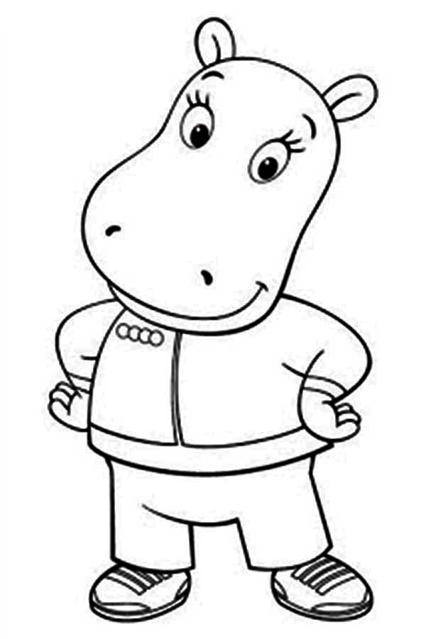 The Backyardigans, : Tasha Take a Picture in the Backyardigans Coloring Page