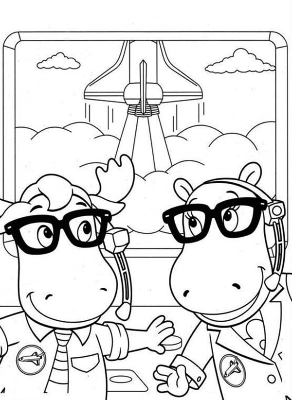 The Backyardigans, : Tasha and Tyrone Work for NASA in the Backyardigans Coloring Page