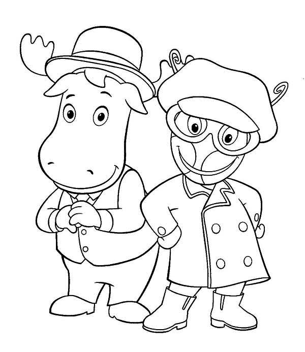 The Backyardigans, : Tyrone and Uniqua from the Backyardigans Coloring Page