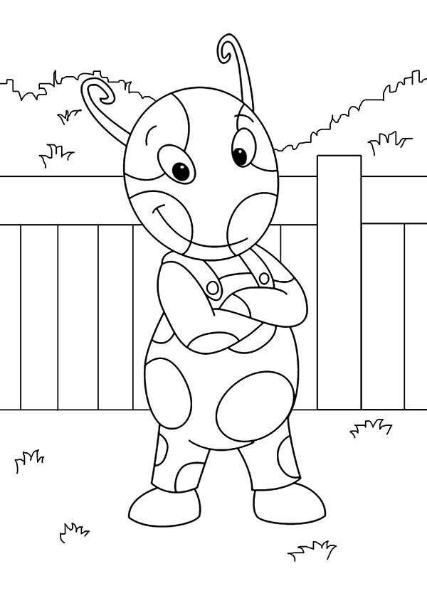 The Backyardigans, : Uniqua Posing at the Backyard in the Backyardigans Coloring Page