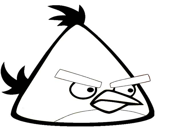 Angry Birds, : Yellow Bird in Angry Bird Coloring Page