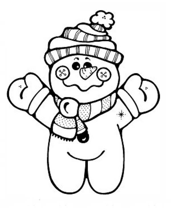 Christmas, : Cheeky Mr Snowman on Christmas Coloring Page