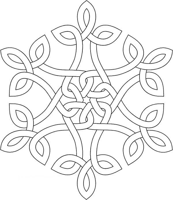 Christmas, : Christmas Snowflakes Image Coloring Page