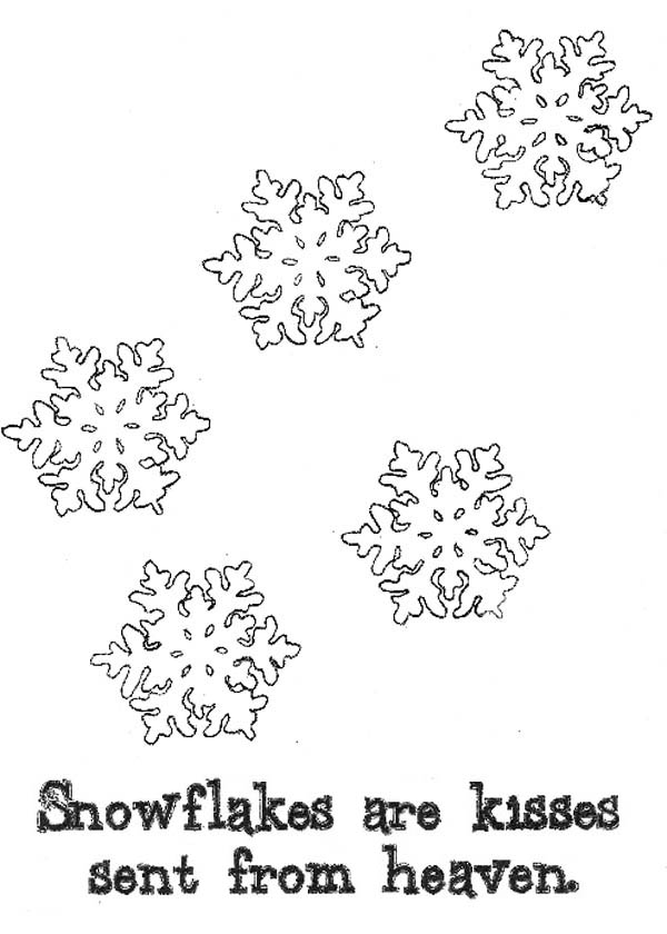 Christmas, : Christmas Snowflakes from Heaven Coloring Page