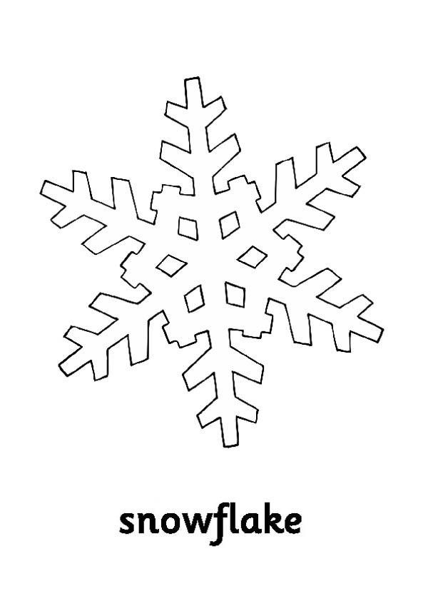 Christmas, : Cold Christmas Snowflakes Coloring Page