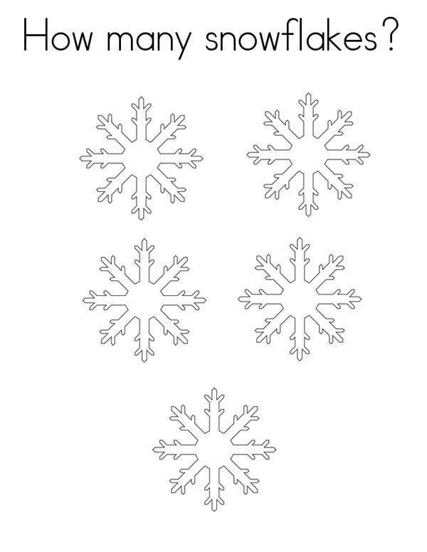 Christmas, : Counting Christmas Snowflakes Coloring Page