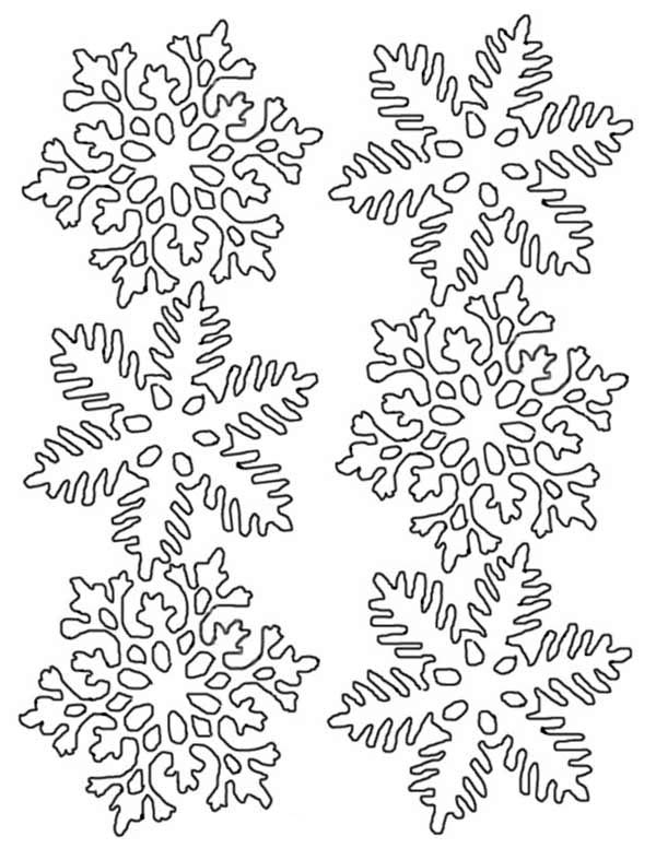 Christmas, : Flower Christmas Snowflakes Coloring Page