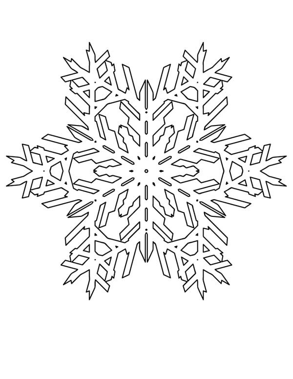 Lovely Christmas Snowflakes Pattern Coloring Page : Kids ...