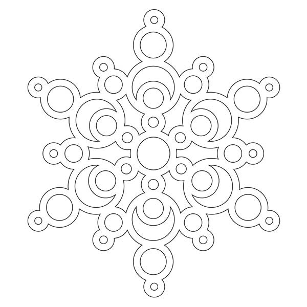 Christmas, : Magnificent Christmas Snowflakes Coloring Page