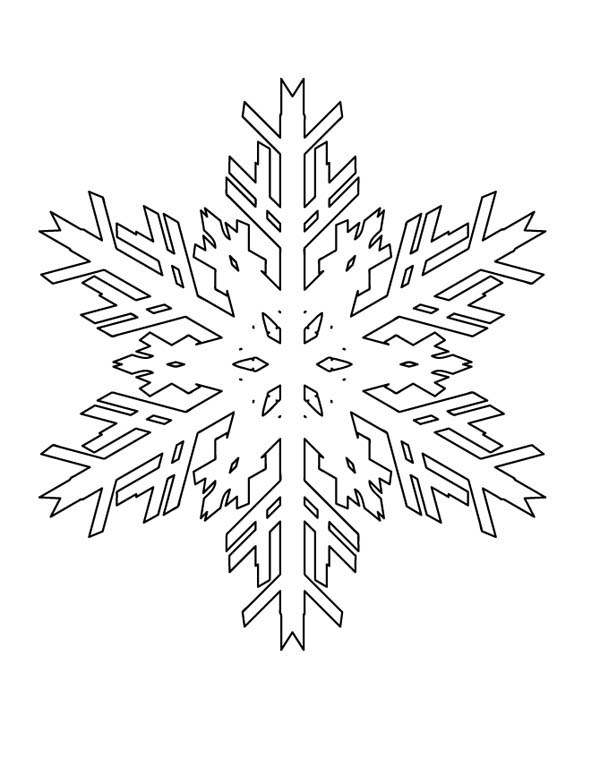 Christmas, : Melting Christmas Snowflakes Coloring Page