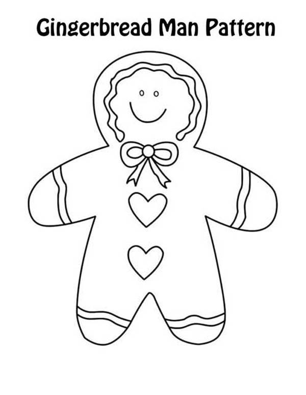 Christmas, : Mr Gingerbread Men on Baby Custom Coloring Page