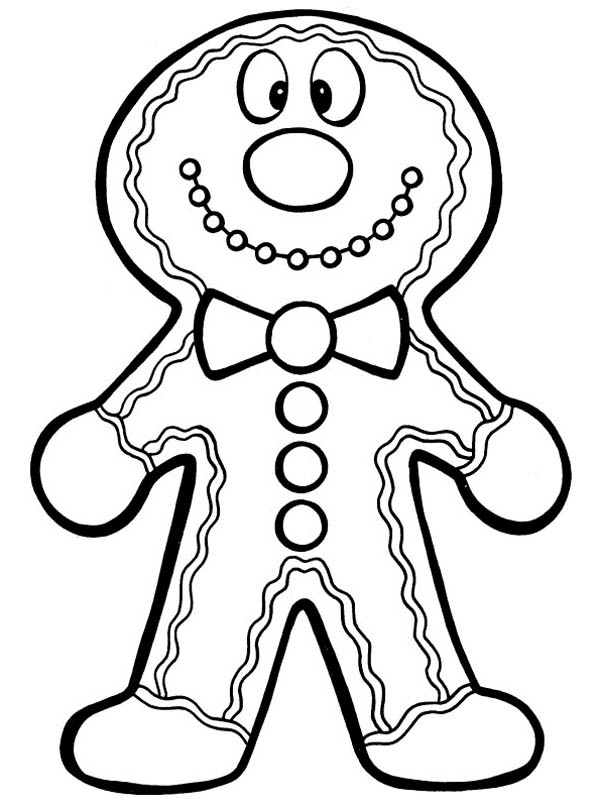 Christmas, : Mr Gingerbread Men on Christmas Custom Coloring Page