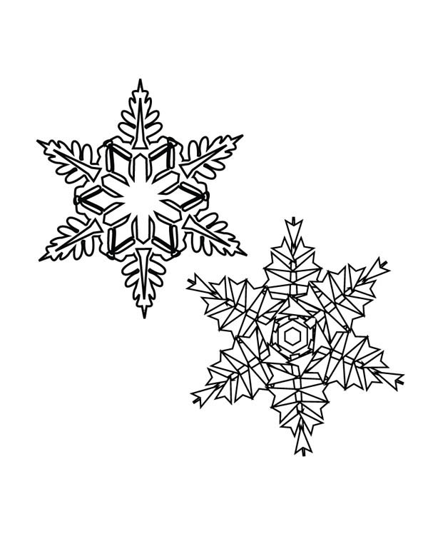 Christmas, : Picture of Christmas Snowflakes Coloring Page