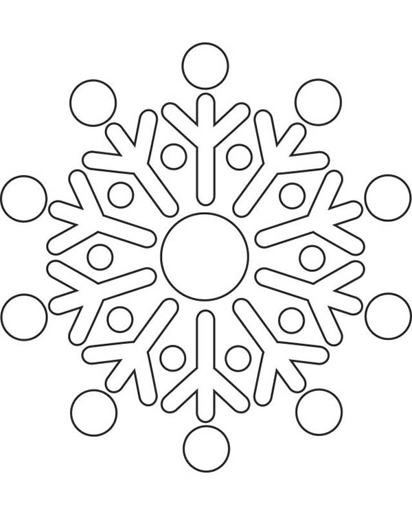 Christmas, : Round Christmas Snowflakes Coloring Page