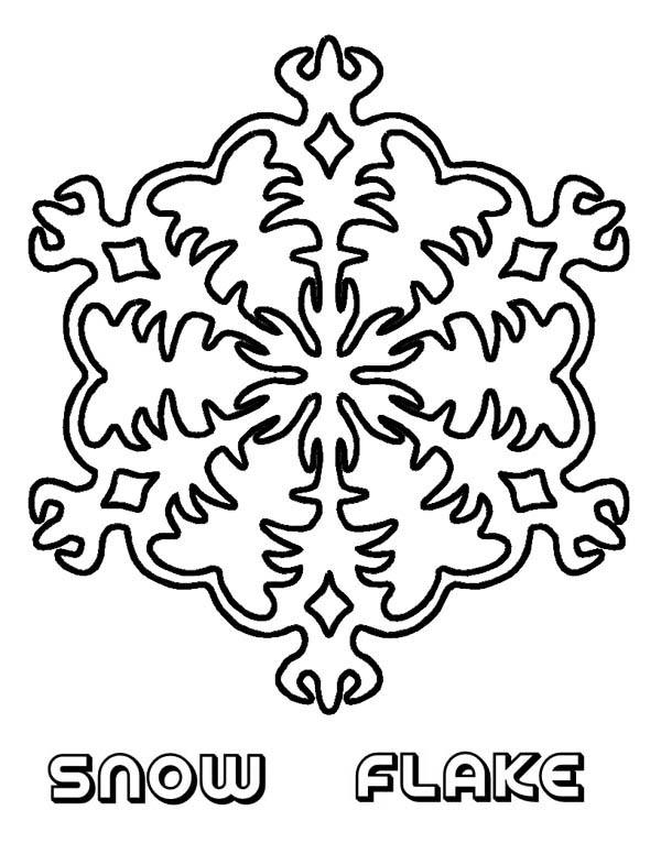 Christmas, : Sparkling Christmas Snowflakes Coloring Page