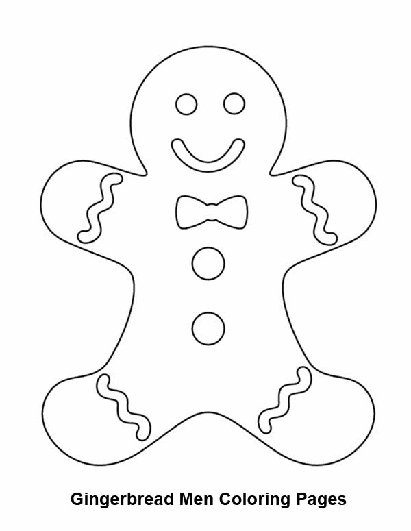 Christmas, : Yummy Mr Gingerbread Men on Christmas Coloring Page