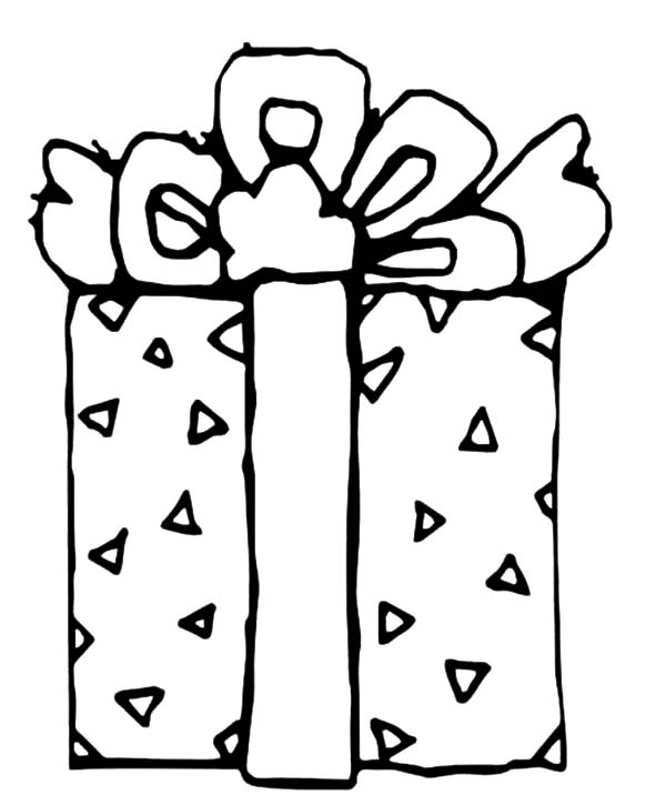 Christmas Presents, : Beautifully Wrapped Christmas Presents Coloring Pages