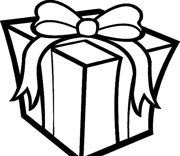 Christmas Presents, : Big Box of Christmas Presents Coloring Pages