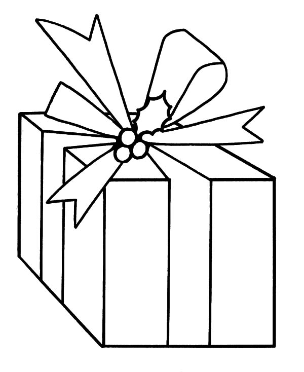 Christmas Presents, : Drawing Christmas Presents Coloring Pages