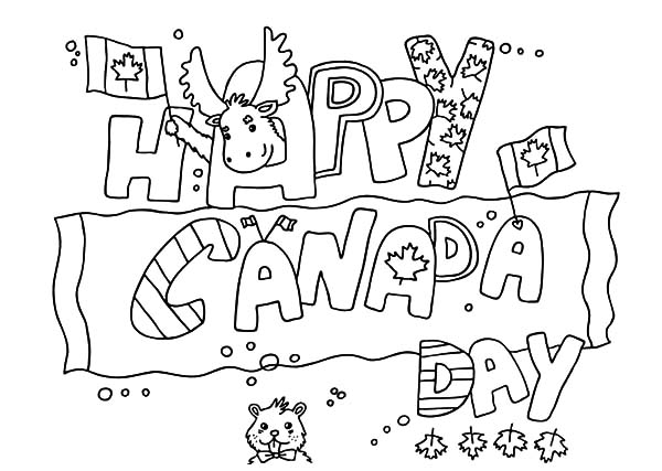 National Canada Day, : Canada Flag Design on National Canada Day Coloring Pages