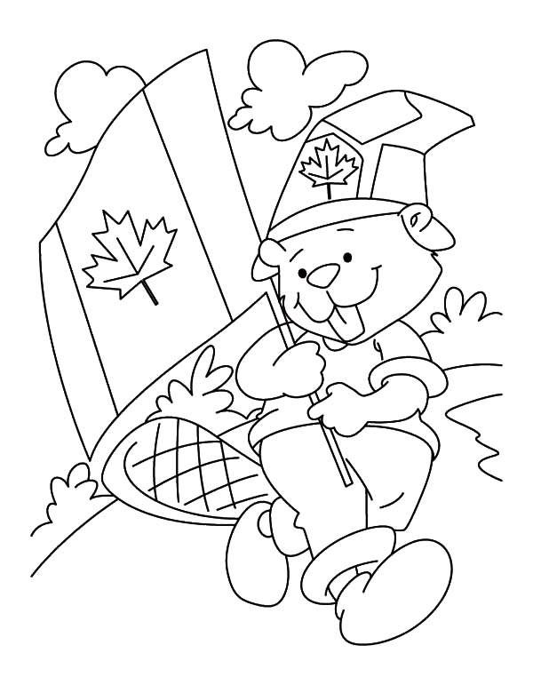 National Canada Day, : Canadian Beaver Boyscout on National Canada Day Coloring Pages