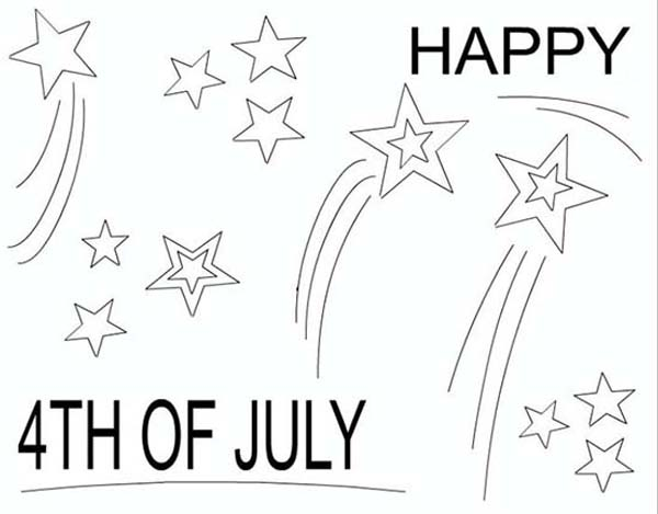 Independence Day, : Happy Independence Day Coloring Page