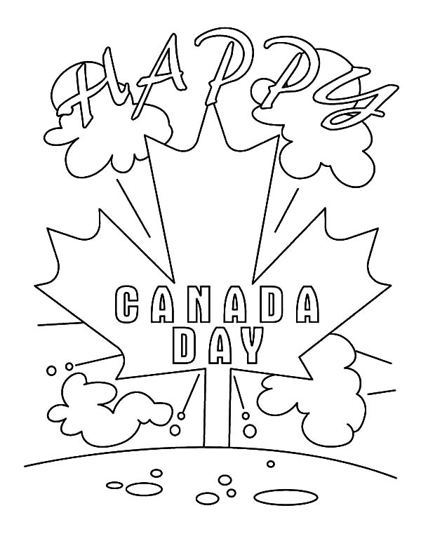 National Canada Day, : Its Happy Day on National Canada Day Coloring Pages