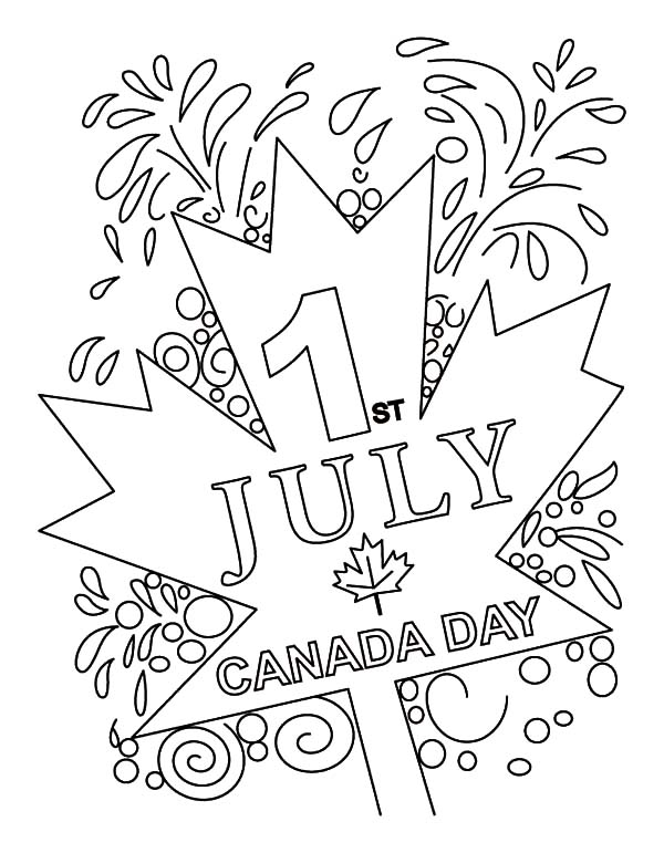 National Canada Day, : July 1st in Canada is National Canada Day Coloring Pages