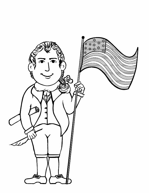 Independence Day, : Molly and Francis American Flag for Independence Day Coloring Pages
