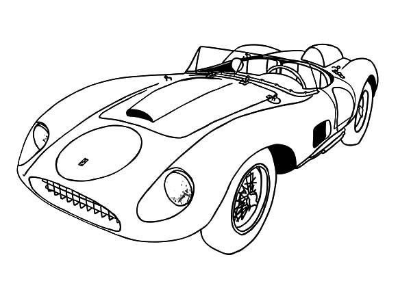 Ferrari Cars, : 1957 Ferrari 625 TRC Spyder Cars Coloring Pages