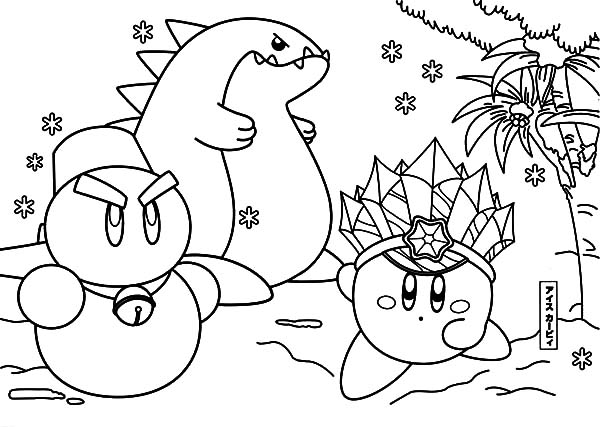 Kirby, : Adventure of Kirby and Friends Coloring Pages
