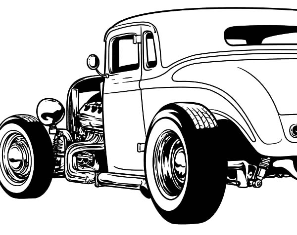 Hot Rod Cars, : Amazing Hot Rod Cars Coloring Pages