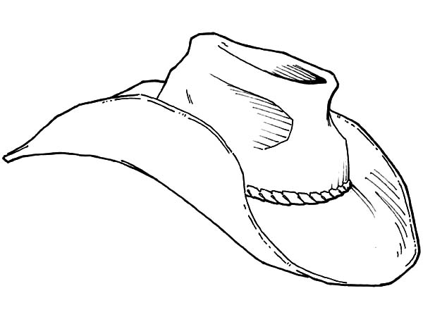 An Old Cowboy Hat Coloring Pages Kids Play Color