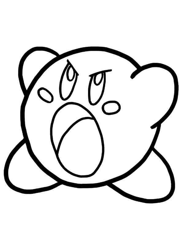 Angry Kirby Coloring Pages : Kids Play Color
